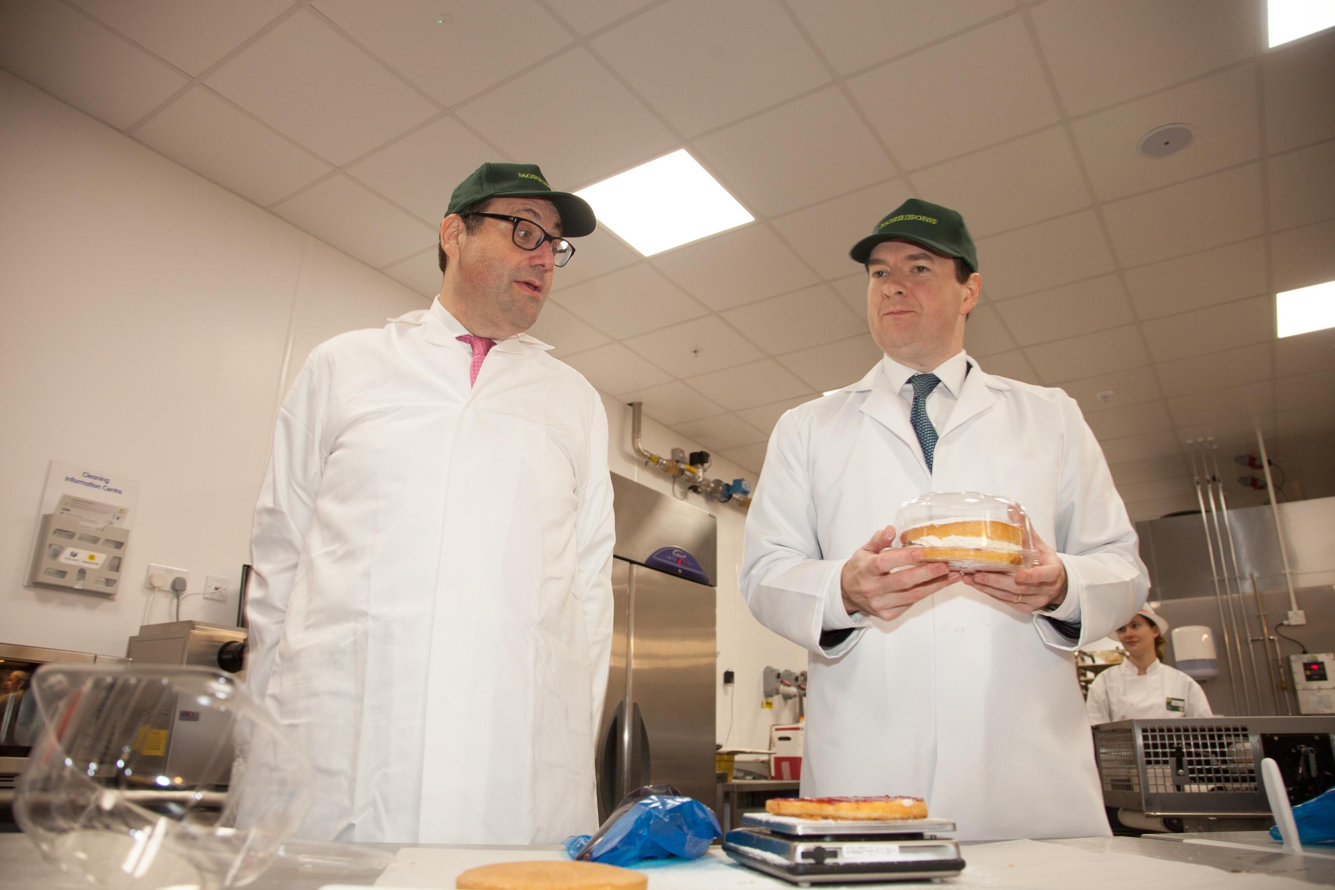 George Osborne visits Watford Morrisons