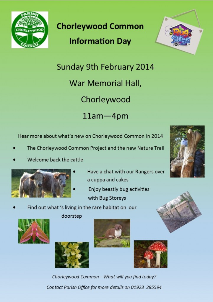 Chorleywood Common info day flyer 2