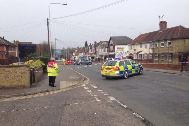 Police at the scene. Image courtesy of Matt Williams @Matt_Wills86