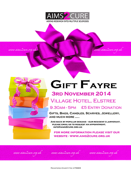 AIMS2CURE GIFT FAYRE flyer