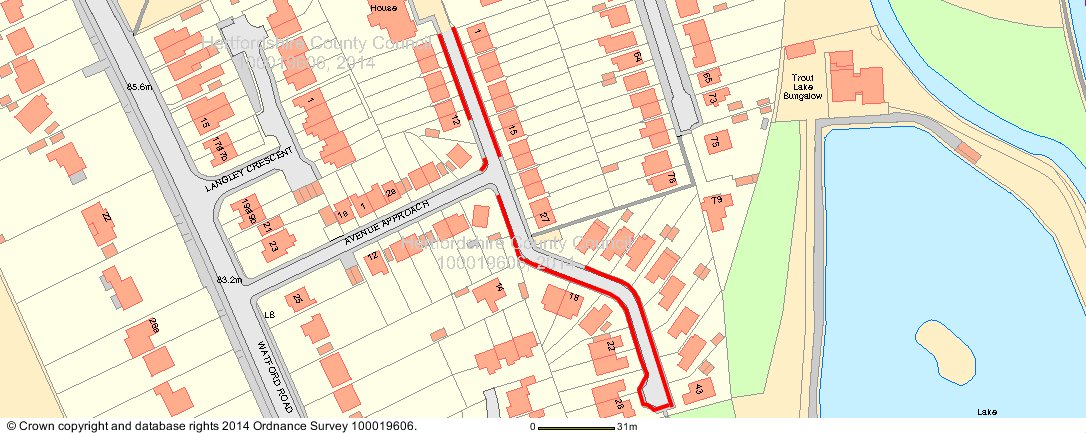 Footway on a Kings Langley road to be replaced
