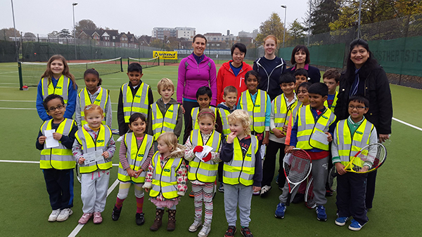 Bright vests for Watford tennis players