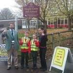 Local school glows for road safety