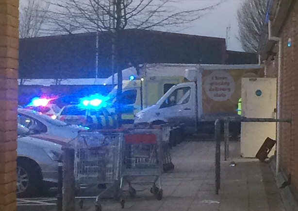 Emergency services called to Sainsbury in Apsley