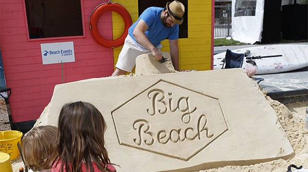 Hundreds head to Watford's Big Beach launch