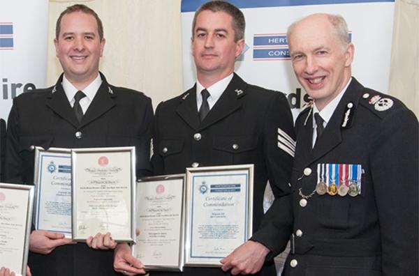 Ricky PC given award for bravery after man struck by lightning