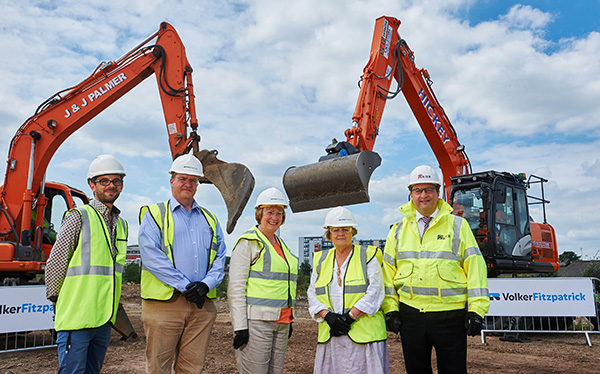 First spade hits the ground at health campus