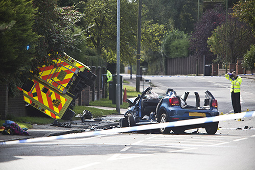 Collision involving ambulance in St Albans leaves two with serious injuries