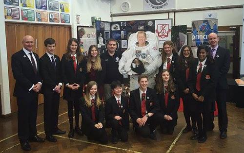 St Albans pupils speak to British astronaut Tim Peake 250 miles in space