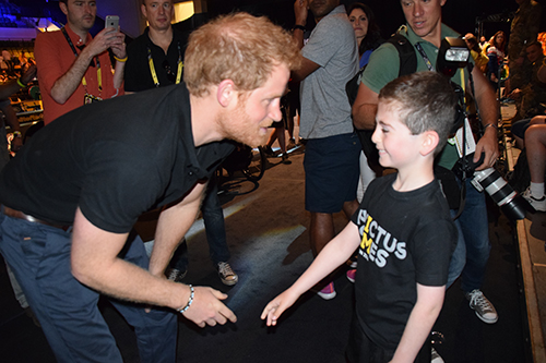 Aspiring young paralympian met Prince Harry at Invictus Games