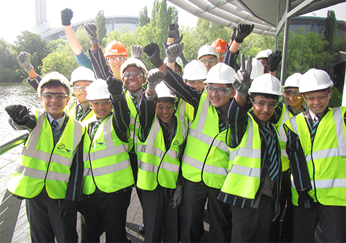 School eco committee visit energy from waste plant