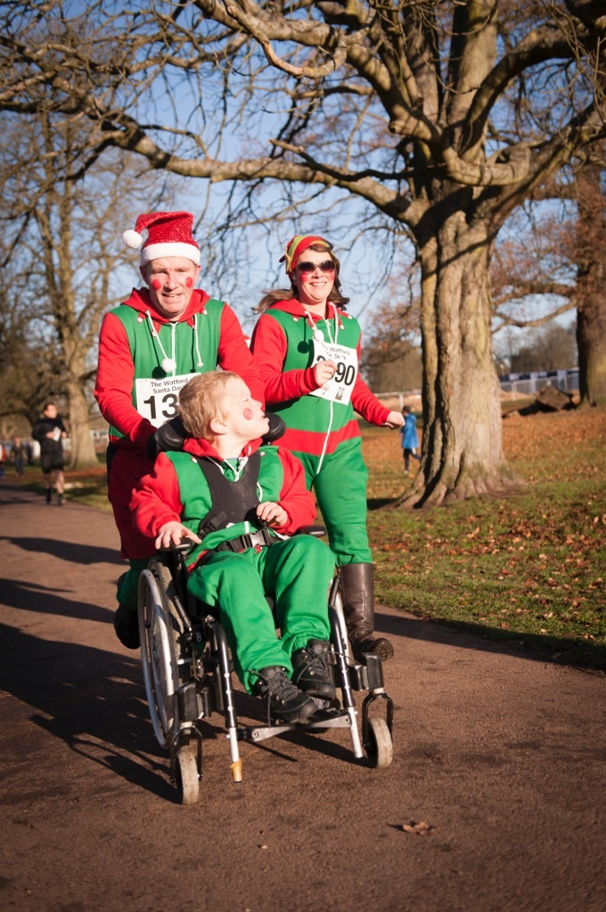 Watford's first Santa Dash is a success