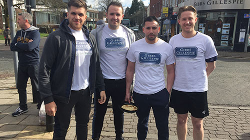 Estate agents support Ricky's flipping great pancake race