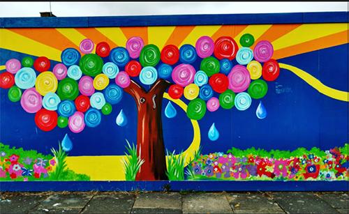 Children's mural brightens up St Albans