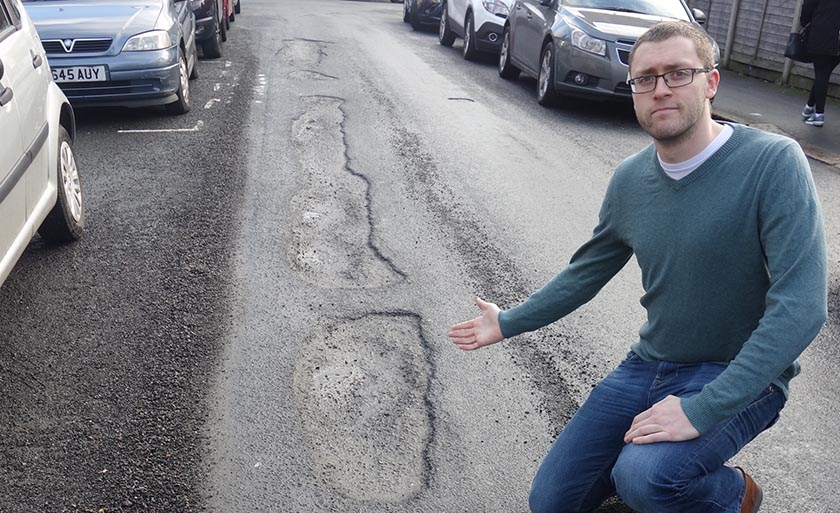 Campaigner slams county council over refusal to fix potholes