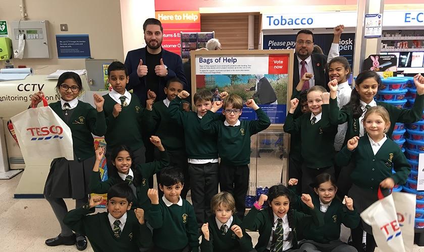 School receives £4,000 from Tesco Bags of Help scheme