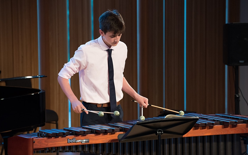 Student selected in BBC Young Musician 2018 percussion category final