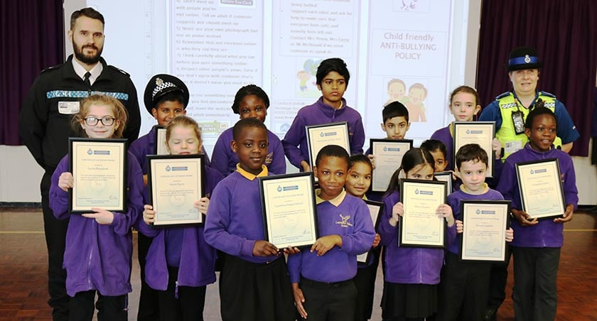 School children awarded for anti-cyberbullying project