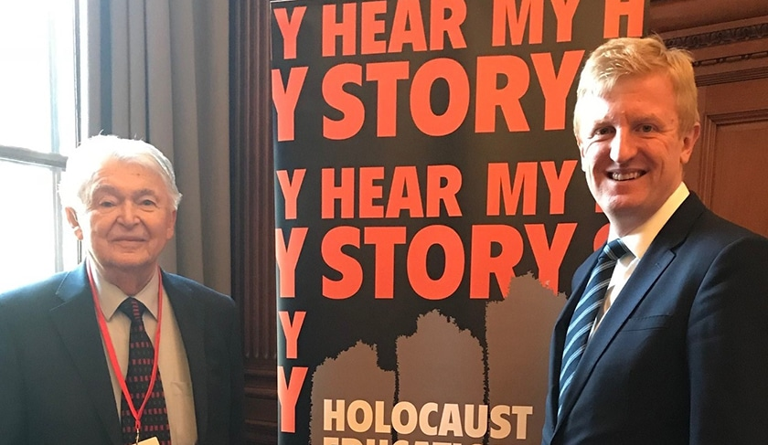 Local MP welcomes Hertsmere Holocaust survivor to memorial in first speech as Minister